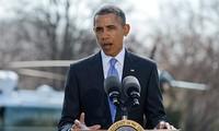 Presiden AS menandatangani pemberlakuan Undang-Undang bantuan untuk Ukraina dan pengenaan sanksi terhadap Rusia