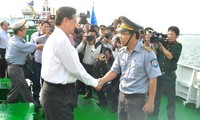 Pasukan pemeriksa laut menjamin pelaksanaan Undang-Undang mengenai hasil perikanan di laut Vietnam