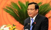Wakil Ketua MN Vietnam, Huynh Ngoc Son menerima Gabungan Asosiasi Persahabatan Laos dan Kamboja