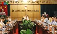 Presiden Vietnam, Truong Tan Sang melakukan kunjungan kerja di provinsi Bac Giang