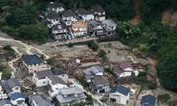 Jepang: jumlah korban dalam kasus tanah longsor meningkat drastis