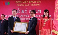 Memperingati ultah ke-25 pembentukan Institut Kardiovaskuler Vietnam