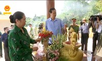 PM Vietnam, Nguyen Tan Dung menghadiri acara peresmian prasasti peringatan kedokteran militer dan rakyat di kabupaten Hon Dat