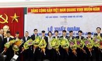 Acara pemberangkatan rombongan Vietnam peserta Kontes ke-43 Ketrampilan Dunia