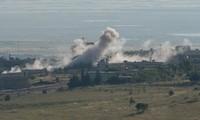 Tentara Suriah melakukan serangan udara pada pangkalan kaum pembangkang