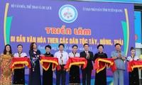 """Acara pembukaan pameran """"Pusaka budaya Then dari etnis-etnis minoritas Tay, Nung dan Thai di Vietnam"""""""