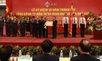Ketua MN Vietnam, Nguyen Sinh Hung menghadiri peringatan ultah ke-10 berdirinya Perusahaan Umum Investasi dan Bisnis bermodal Negara