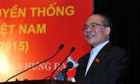 Ketua MN Vietnam, Nguyen Sinh Hung menghadiri Hari Pesta persatuan nasional di kota Hanoi