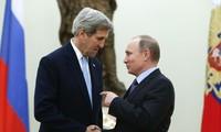 Presiden Rusia melakukan pembicaraan dengan Menlu AS tentang proses perdamaian di Suriah