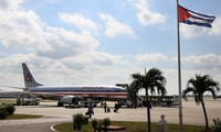AS memberitahukan waktu menandatangani kesepakatan memulihkan kembali misi-misi penerbangan ke Kuba