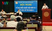 Presiden Vietnam, Truong Tan Sang melakukan kontak dengan para pemilih dua distrik 1 dan 3, kota Ho Chi Minh