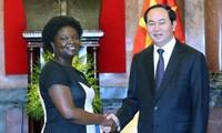 Presiden Vietnam, Tran Dai Quang menerima Wakil Presiden WB urusan kawasan Asia Timur-Pasifik, Ibu Victoria KwaKwa