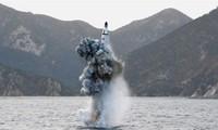 RDRK meluncurkan misil balistik dari kapal selam
