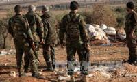 Tentara Suriah merebut kembali daerah-daerah yang jatuh ke tangan IS