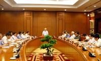 Badan Harian Badan Pengarahan Pusat urusan pencegahan dan pemberantasan korupsi mengadakan sidang