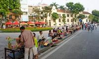 Ciri budaya baru di zona untuk  pejalan kaki di sekitar Danau Hoan Kiem