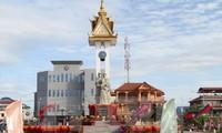 Acara peresmian Tugu Monumen Persahabatan Vietnam-Kamboja dan Tugu Monumen Merdeka Kompong Chhnang