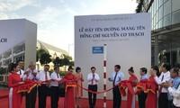 Deputi PM Pham Binh Minh menghadiri acara memberi nama jalan Nguyen Co Thach di kota Ho Chi Minh