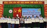 Sayembara ilmu pengetahuan teknik provinsi Dong Thap tahun ajar 2016-2017