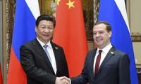 Presiden Tiongkok, Xi Jinping melakukan pembicaraan dengan PM Rusia, Dmitry Medvedev