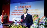 Presiden Vietnam, Tran Dai Quang menghadiri acara peringatan ultah ke-115 berdirinya Sekolah Tinggi Kedokteran Hanoi