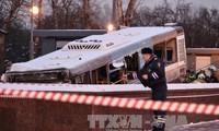 Polisi Rusia mengecualikan kemungkinan serangan teror dalam kasus bis menggusur bagian jalan untuk pejalan kaki