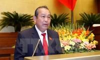 Deputi PM Vietnam, Truong Hoa Binh menemui mantan pelajar Vietnam Selatan yang memberikan banyak sumbangan dalam membangun dan mengembangkan Tanah Air