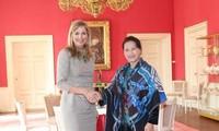 Ketua MN Vietnam, Nguyen Thi Kim Ngan melakukan kunjungan kehormatan kepada Ratu Kerajaan Belanda