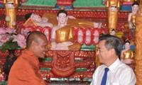 Pimpinan Provinsi Bac Lieu menyampaikan ucapan selamat kepada warga etnis minoritas Khmer sehubungan dengan Hari Raya Tet Chol Chnam Thmay