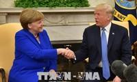 Kanselir Jerman melakukan pembicaraan dengan Presiden AS
