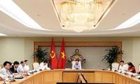 Deputi PM Vietnam, Pham Binh Minh memimpin sidang tentang proyek-proyek penggunaan modal pinjaman dari WB dan ADB