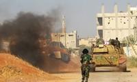 Tentara Suriah memperkuat operasi pembersihan membasmi para militan IS