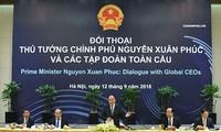 PM Nguyen Xuan Phuc menyambut komitmen dari semua Grup global dalam melakukan bisnis jangka panjang di Viet Nam tahun 2018