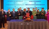 Memperkuat kerjasama pertahanan – keamanan perbatasan antara dua provinsi Quang Binh (Viet Nam) dan Kham Muon (Laos)