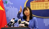 Vietnam meminta kepada Tiongkok supaya jangan mengadakan kembali lomba kapal layar piala Sinan di kawasan pulau Duy Mong (Drummond), di Kepulauan Hoang Sa wilayah Vietnam