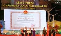 Acara peringatan ultah ke-30 hari berdirinya kembali Provinsi Quang Tri