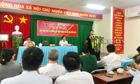 Ketua MN Vietnam, Nguyen Thi Kim Ngan melakukan kontak dengan para pemilih di Kabupaten Ninh Kieu, Kota Can Tho
