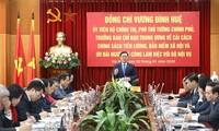 Deputi PM Vuong Dinh Hue Melakukan Temu Kerja dengan Kementerian Dalam Negeri