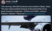 Presiden Donald Trump berterima kasih kepada Vietnam yang telah bekerjasama dengan AS untuk menghadapi wabah Covid-19