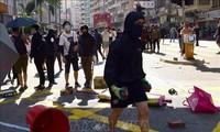 Pemerintah Hong Kong (Tiongkok) mengutuk keras orang-orang yang melakukan demonstrasi kekerasan