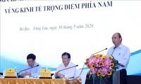Membahas solusi untuk memulihkan ekonomi provinsi-provinsi di zona ekonomi titik berat di Vietnam Selatan