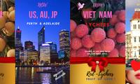 Sembilan ton buah leci segar Vietnam akan segera tiba di pelabuan Australia