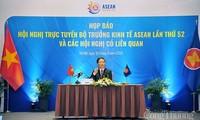Jumpa pers tentang Konferensi virtual Menteri Ekonomi ASEAN kali ke-52 dan konferensi-konferensi terkait