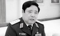 Pengumuman Acara Pemakaman Jenderal Phung Quang Thanh