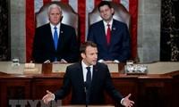 French President Emmanuel Macron addresses US Congress