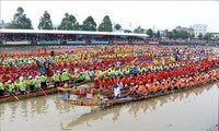 Ngo boat races take place in Soc Trang province