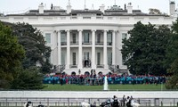 US President holds first public event since COVID-19 diagnosis
