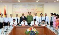 Взаимодействие в обмене информацией между ВИА и районами Вьетнама