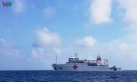 Прочная опора для рыбаков, занимающихся промыслом в морском районе островов Чыонгша