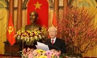 Нгуен Фу Чонг провел новогоднюю встречу с руководителями партии и государства